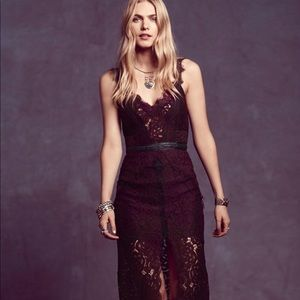 Free People Purple Column Dress